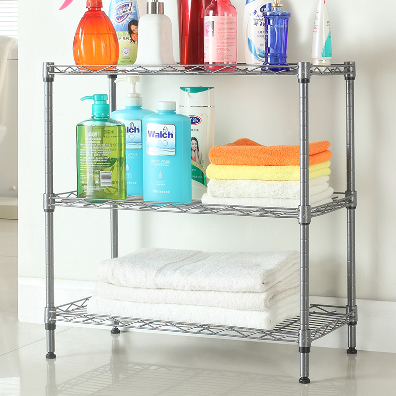 3 tier adjustable kitchen metal wire storage shelf home holders for sundries use