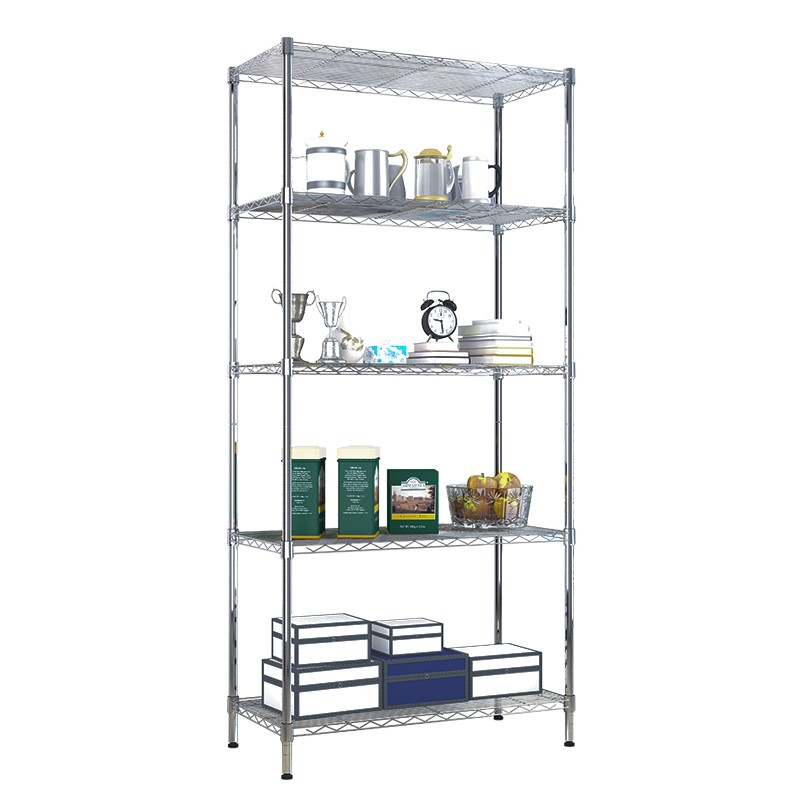 KR012 carbon steel Metallic Material and Wire Shelving Type Shelf Ledge